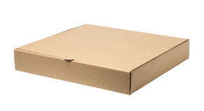 Pizza box. Empty pizza box isolated on white background Royalty Free Stock Image