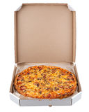 Pizza in a box Stock Image
