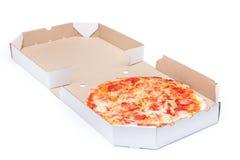 Pizza in box Stock Image