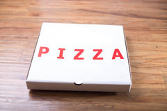 Pizza box pack mockup paper material. Pizza box pack mockup paper for design and logo Stock Photos