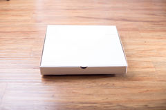 Pizza box pack mockup paper material. Pizza box pack mockup paper for design and logo Royalty Free Stock Photos