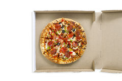 Pizza in the box Royalty Free Stock Images