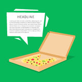 Pizza in the box vector illustration Royalty Free Stock Image