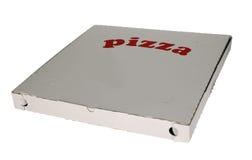 Pizza box on white background Stock Photo