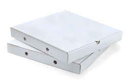 Pizza boxes Royalty Free Stock Images