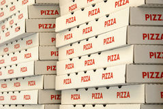 Pizza boxes Royalty Free Stock Photos
