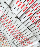 Pizza boxes Royalty Free Stock Photo