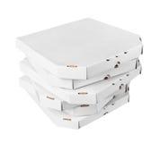 Pizza boxes Royalty Free Stock Photos