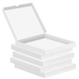 Pizza boxes Stock Images