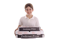 Pizza boy. Shot of a pizza boy Royalty Free Stock Photography