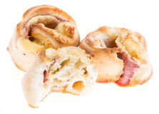 Pizza Bread (on white) Stock Photography
