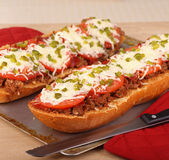 Pizza Bread Stock Photography