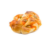 Pizza Bread. Isolated on white stock photo