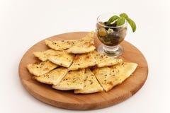Pizza  bread slices Stock Photo