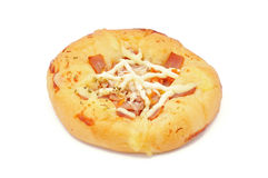 Pizza bread. On a white background royalty free stock photos