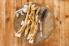 Pizza breadstick. Royalty Free Stock Photos