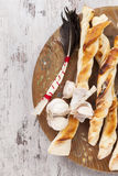 Pizza breadsticks. Royalty Free Stock Photo
