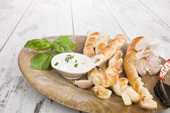 Pizza breadsticks with ingredients. Royalty Free Stock Photos