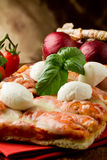 Pizza with Buffalo Mozzarella Royalty Free Stock Photo