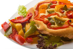Pizza with bulgarian pepper Stock Photography