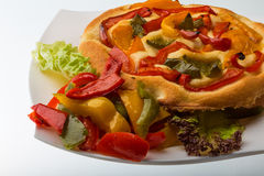 Pizza with bulgarian pepper Royalty Free Stock Photo