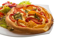 Pizza with bulgarian pepper Stock Images