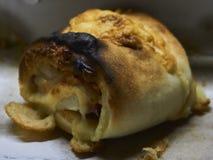 Pizza bun with cheese royalty free stock photos
