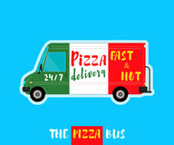 Pizza bus delivery Stock Photography