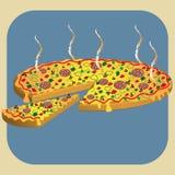 Pizza caliente ilustración del vector