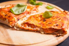Pizza calzone Stock Image