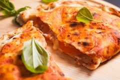 Pizza calzone Stock Photo