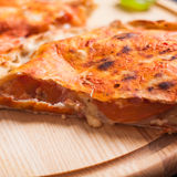 The Pizza calzone Royalty Free Stock Images