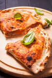 The Pizza calzone Stock Photo