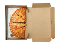 Pizza Calzone in box Royalty Free Stock Image