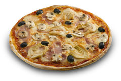 A  pizza cappriciosa Stock Photos