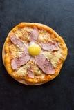 Pizza Carbonara Stock Images