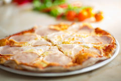 Pizza carbonara portions Stock Images