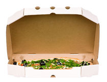 Pizza in carton box Royalty Free Stock Photography