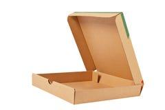 Pizza carton box stock photo