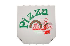 Pizza carton. Carton for transport of pizza's Royalty Free Stock Photos