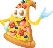 Pizza cartoon character. Smiling pizza cartoon character isolated Royalty Free Stock Photos