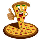 Pizza Cartoon. EPS 10 file and large jpg included Stock Images