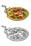 Pizza cartoon illustration Royalty Free Stock Images