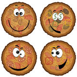 Pizza cartoon set. Stock Photo