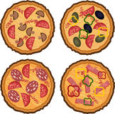Pizza cartoon set. Stock Photography