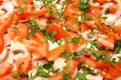 Pizza casalinga cruda Fotografie Stock