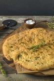 Pizza casalinga di Bianca con sale marino Fotografie Stock Libere da Diritti