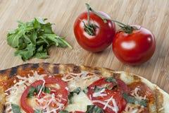 Pizza caseiro do margarita Imagens de Stock Royalty Free