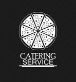 Pizza catering service menu food icon Stock Photo
