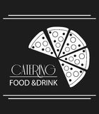 Pizza catering service menu food icon Royalty Free Stock Images